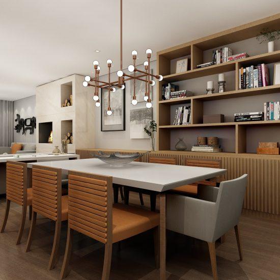 Decoração residencial contemporânea