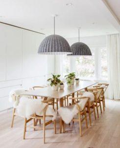 Sala de jantar escandinava