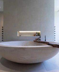 Banheira de limestone